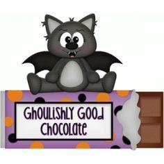 Silhouette Design Store - View Design #101066: ghoulishly good chocolate halloween bat