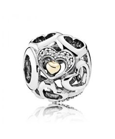 01be8159f Pandora Heart of Romance Charm, Clear CZ pandora gold - - Pandora Jewelry, Pandora Gold Ring - Discount Store,Welcome Our Pandora Official Site,Shop  the ...