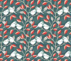 Love Birds - Twilight Palette fabric by pattysloniger on Spoonflower - custom fabric