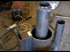 Rocket stove from a gas cylinder Rocket Stove Water Heater, Stove Heater, Stove Oven, Rocket Stoves, Stove Parts, Metal Art Sculpture, Youtube, Ovens, Fire Places