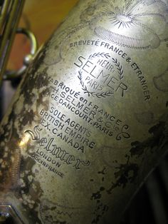 selmer super action tenor saxophone circa 1949 by the woodwind workshop, via Flickr
