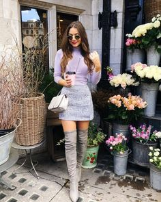Combing my two obsessions.pastel and tweed 💕 Source by outfits invierno Paris Outfits, Winter Fashion Outfits, Girly Outfits, Cute Casual Outfits, Look Fashion, Chic Outfits, Spring Outfits, Autumn Fashion, Autumn Outfits