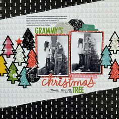 Grammy's Christmas tree. ::2 photo layout. ::