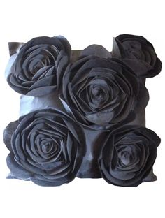 Hey friends decorate your room with Rose Pillows. Rose Pillows are available at https://booso-booso.com/index.php/pillows/contemporary-line-37/striking-silver.html #HomeDecor #homedesign #interiordesign #giftideas #gift