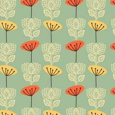 Springtime in Oslo fabric by rhubarbinthegarden on Spoonflower - custom fabric