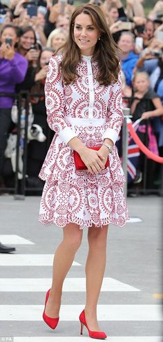 The Duchess of Cambridge on Sunday