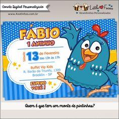 Convite Festa Galinha Pintadinha Digital