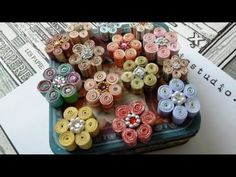 Rolled Paper Flower Tutorial - Use pieces as pendants, rings, focal points in necklaces, etc