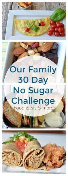 Our families 30 day, no sugar Challenge! While we are generally a healthy family, we do have our weaknesses. We love baking cookies (and do so most Sunday's). We love celebrating any event or achievement with dessert. And we are involved in activities Sugar Detox Recipes, Sugar Free Recipes, Diabetic Recipes, Diet Recipes, Healthy Recipes, Diet Tips, Healthy Sugar, Sugar Free Meals, Low Sugar Meals