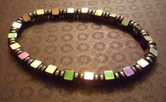 Square Hematite bracelet by BritkneesBootique on Etsy