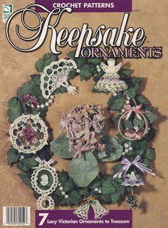 Keepsake Ornaments, Crochet Pattern Booklet House of White Birches 101029 Holiday Home Seasonal Decor