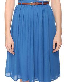 Soft, flowy skirt in indigo.