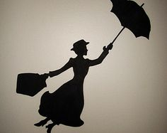 Mary Poppins Silhouette Wall Art