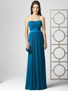 Cerulean blue bridesmaid dress