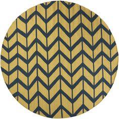 Hand-Woven Ora Reversible Wool Rug (8' Round)