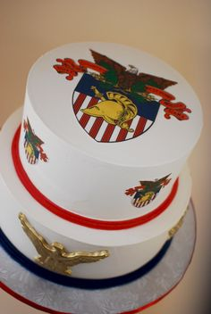 West Point Academy Grooms Cake via Cup a Dee Cakes Blog.  Buttercream with edible images