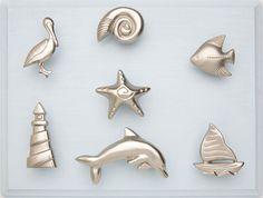 Carol Beach Knobs Trendy decorative kitchen cabinet knobs, pulls, handles and hardware.