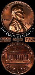1972-P Lincoln Cent Nice BU Double Die Obverse