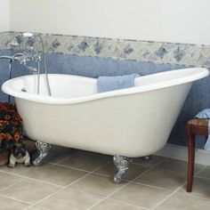 Slipper Tub with Ball and Claw Feet