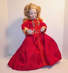 "Shirley Temple 17"" Doll 1994 Danbury Mint Captain January Red Dress With Box  #DollswithClothingAccessories"