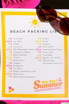 Free Printable Beach Vacation Packing List | Don't forget anything for your next trip to the beach! | See more printables on TodaysCreativeLif...