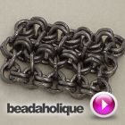 How to Create Faux Chain Maille | Beadaholique - there are other very nice videos at this source. #chainmaille #tutorial