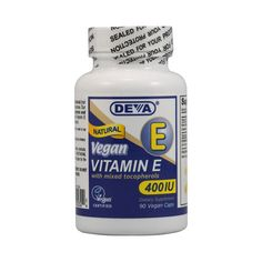 Deva Vegan Vitamin E with Mixed Tocopherols 400 IU (90 Veg Capsules)