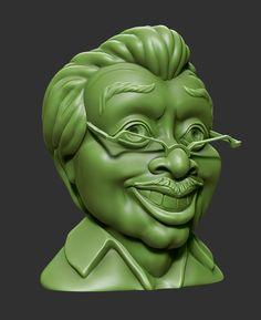 Бюст #SmogLatino сделан для #3Dprint в #ZBrush