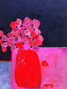 Selected Paintings in Private Collections::Fauvist Modern Milton Avery Primitive Naive Art Abstracted Landscapes Stilllifes : JILL FINSEN PAINTINGS