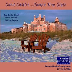 The historic Don CeSar Hotel on Pass-a-Grille beach in St. Pete Beach on the Florida Suncoast at Tampa Bay.