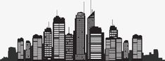 Building Silhouette, City Silhouette, Building Vector PNG and Vector