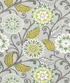 Shop HGTV Urban Blossoms Platinum Fabric at onlinefabricstore.net for $23.85/ Yard. Best Price & Service.