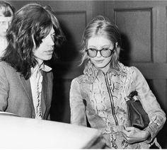 Vintage Marianne Faithfull in a gorgeous snakeskin jacket.