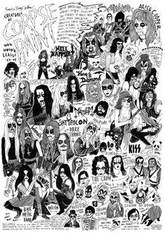 [Articulo] Corpse Paint: Tras la historia de años y kilos de blanco y negro - Portalnet.CL