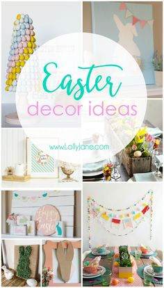 Hippity hoppity Easter's on its way! As is our Easter decor! We love the fun, bright colors of Easter and spring and work them in to our home decor as much as possible. If you want some DIY crafts, Easterprintables, or just some dang good Easter inspiration,we've got something festive and pretty to bring some …