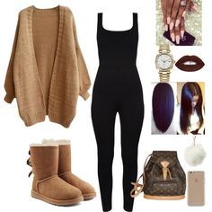 A fashion look from September 2016 featuring UGG boots, Louis Vuitton backpacks and Rolex watches. Browse and shop related looks.