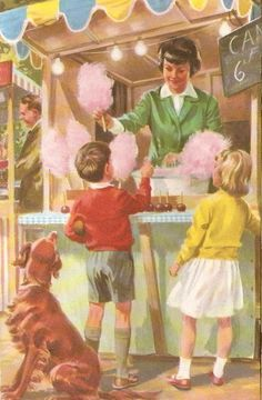 """by Martin Aitchison, from Ladybird book """"Have a Go!"""" 1964 by vilma Images Vintage, Vintage Cards, Vintage Prints, Vintage Posters, Ladybird Books, Children's Book Illustration, Book Illustrations, The Good Old Days, Oeuvre D'art"""