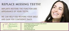 We can restore your smile with #Implants