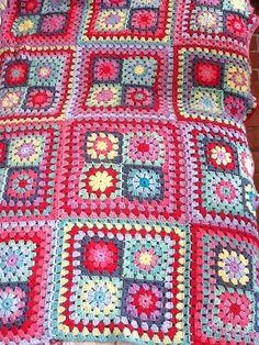 Ravelry: Slobadon's Sherbet Summer Garden Granny Square Blanket