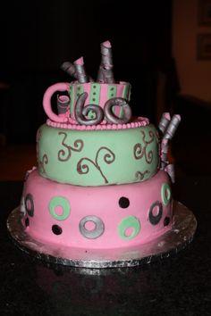 b-day cake for our secretory. Cake Creations, Baking, Desserts, Food, Tailgate Desserts, Deserts, Bakken, Essen, Postres