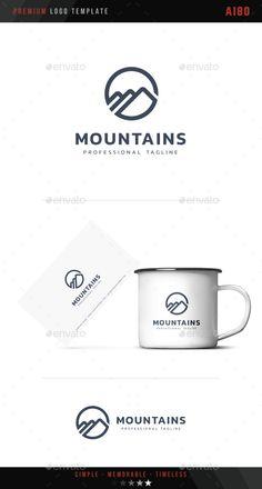 Mountains Logo - Symbols Logo Templates