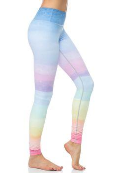 95e5b9212e521 Flexi Lexi Clothing Flexi Yoga Legging in Color Palette Print Leggings