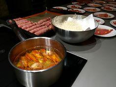 Food prep at Let´s Drunch