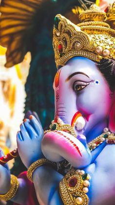 New Cute Lord Ganesha Smiley Wallpaper. Most Famous And Popular Lord Ganesha or bappa wallpaper. Wallpaper by WaoFam. Shri Ganesh Images, Ganesha Pictures, Lord Krishna Images, Jai Ganesh, Ganesh Lord, Shree Ganesh, Ganesha Art, Krishna Art, Ganesh Rangoli