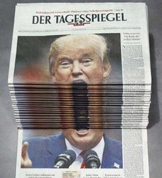The germans got it right... ~~ ~Funny Pics Memes ~~ ~~ donald trump newspaper face scream