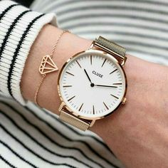 Make it simple, but significant 💫 Discover our rose gold models, and create your own minimal-chic look Trendy Watches, Elegant Watches, Beautiful Watches, Ladies Watches, Dainty Jewelry, Jewelry Accessories, Fashion Accessories, Fashion Jewelry, Style Fashion