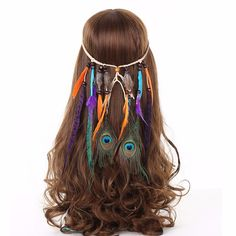 Rainbow Feathers Headband