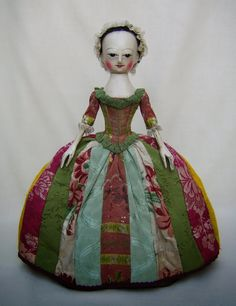 "The newest ""Old Pretender ""- fabulous hand carved museum quality reproduction of an 18thC fashion doll."