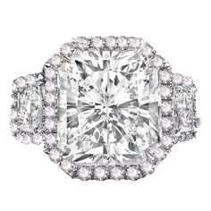 1stdibs - Remarkable 10.02 Radiant Cut GIA, Diamond Ring. explore items from 1,700  global dealers at 1stdibs.com