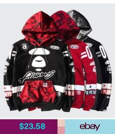 fcc9e2f1 2017 Men's Japan Bape Ape Head Hoodie Sweater Hooded Coat Outwear Jacket  Aape in Clothing, Shoes & Accessories, Men's Clothing, Sweats & Hoodies